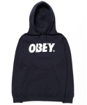 OBEY FONT BASIC PULLOVER HOODIES NAVY