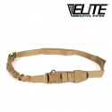 엘리트 서바이벌 시스템(ELITE SURVIVAL SYSTEM) Single Point Tactical Sling with Bungee Coyote Tan - 1점 택티컬 슬링 코요테