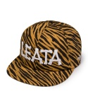 Bone logo 6 panel cap zebra yellow