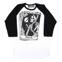 리쿼브랜드(LIQUOR BRAND) TAROT WHITE RAGLAN 3/4 MEN