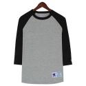 챔피언 Champion Raglan Baseball T-Shirt (grey & black )