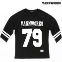밴웍스 VNWRS 풋볼 티셔츠 - 블랙