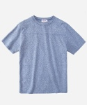 S/S MELANGE FOOTBALL T-SHIRTS BLUE