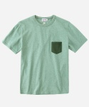 S/S MELANGE POCKET T-SHIRTS GREEN