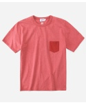 S/S MELANGE POCKET T-SHIRTS RED