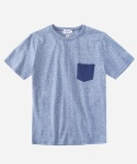 S/S MELANGE POCKET T-SHIRTS BLUE