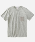 S/S MELANGE POCKET T-SHIRTS GRAY