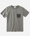 S/S MELANGE POCKET T-SHIRTS BLACK