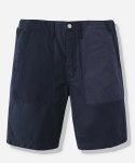 MIXED COTTON FATIGUE SHORTS NAVY