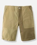 MIXED COTTON FATIGUE SHORTS BEIGE