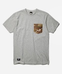 CAMO POCKET TEE _ GRAY