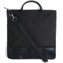 M#0358 black cotton tote bag
