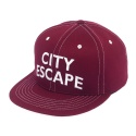 CITY 6 PANEL CAP-BURGUNDY