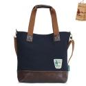 CANVAS SHOULDER BAG  clover bag - ys2008dn (DARK NAVY)