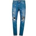 M0348 hotorget burst vintage jeans