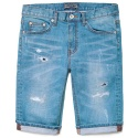 M#0344 1/2 patched washing jeans