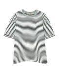 MARINE STRIPE 1/2 T-SHIRTS WHITE