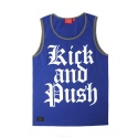 KICK&PUSH 2 SLEEVELESS (BLUE)