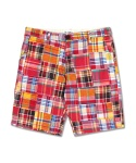 CRAZY PATCHWORK SHORT PANTS RED&ORANGE