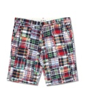 CRAZY PATCHWORK SHORT PANTS GREEN&RED