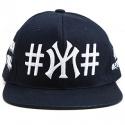 40OZ NYC X 빈 트릴 스냅백  (40OZ NYC X #BEEN #TRILL SNAPBACK - NAVY) [OZ_XBTRIL_NY_NV]
