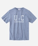 S/S COLLEGE LOGO T-SHIRTS BLUE