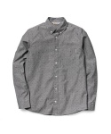 L/S Crandall Shirt Copyright Print Black Rinsed