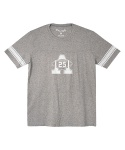 어레인지(ARRANGE) A25 rugby short sleeve T-shirts (melange gray)