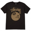 Stussy Worldwide 8 Ball Tee (BLACK)