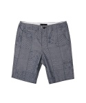어레인지(ARRANGE) bandana patch jacquard short pants