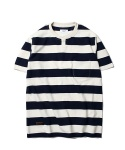 Ernest Border S/S T-Shirt Navy Stripe