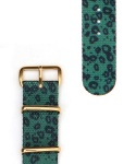 JADE LEOPARD STRAP GOLD BUCKLE