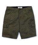 Leopard cargo shorts olive