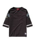 MUSINSA CAMO FLOWERS FOOTBALL TEE (CHARCOAL)
