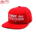 COMME des FUCK DOWN - snap back - RED_꼼데퍽다운스냅백