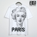 Monroe Paris Shot T-Shirt-White