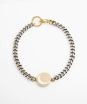 먼데이에디션(MONDAY EDITION) [usual M.E] moon pendant thin chain bracelet (골드바탕 / 화이트 달)