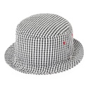 SEERSUCKER BUCKET HAT-GINGHAM BLACK