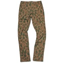 SUPER SLIM CAMO PANTS MUSTARD