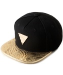 Gold Snake Brim Strapback (with new type of gold buckle)