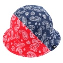 PAISLEY REVERSIBLE BUCKET HAT (NAVY/RED)