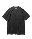 Military Logo Garment Dyed S/S T-Shirt Black