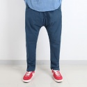 TRMARK LINEN BAGGY PANTS BLUE
