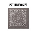 로스코(ROTHCO) 27INCH BIG TRAINMEN BANDANA (GREY)