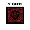 로스코(ROTHCO) 27INCH BIG TRAINMEN BANDANA (BLACK+RED)