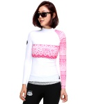 B FAME WOMANS RASHGARD - WHITE/C.PINK