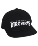 매드사우스(MADSOUTH) Dirtyboys Arch Snapback BLACK