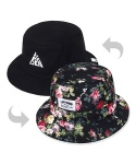 FLORAL PYRAMID BUCKET HAT-REVERSIBLE