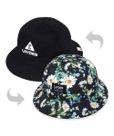 CAMO FLOWER BUCKET HAT-REVERSIBLE