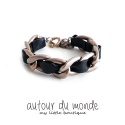 오뜨르 뒤 몽드(AUTOUR DU MONDE) CLASSIC LEATHER CHAIN BRACELET